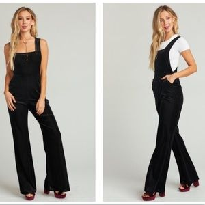 NWT Show Me Your Mumu Black velvet jump suit